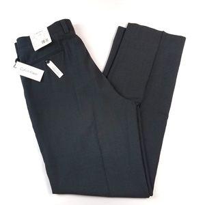 Mens Calvin Klein Pants 36X29 Charcoal Flat Front